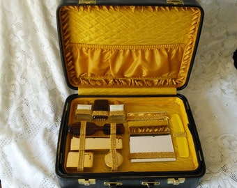 Cosmetics Beauty Grooming Vanity Case Briefcase 1960s French Retro Vintage Large Original