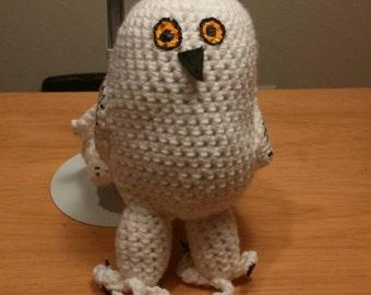 Snowy Owl Crochet Doll