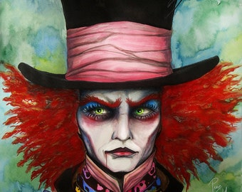 Mad Hatter- signed Art Print