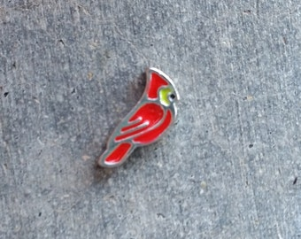 Floating Charm For Glass Memory Lockets- Cardinal
