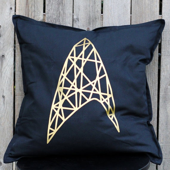 Star Trek Wire Frame Insignia in Gold Metallic by ToBoldlyHold