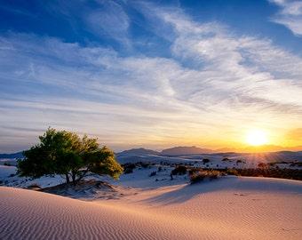 Whitesands Sunset New Mexico Landscape Photography 8x12 fine art print