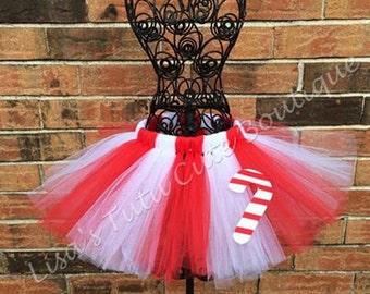 Candy Cane Tutu. Red and white tutu. Christmas tutu. Candy land tutu. Holiday tutu.