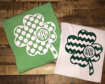St. Patrick's Day Monogram T-Shirt; Youth Sizes