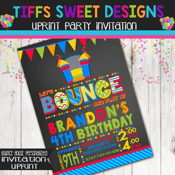 Bounce House Party Bounce House Invitation By