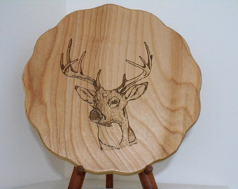 Buck With 10 Point Antlers Woodburning Pyrography