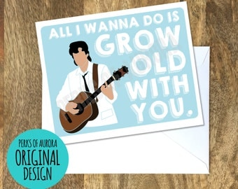 Grow Old With You, The Wedding Singer inspired romantic card