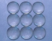 """5 Pcs - 35mm Round Glass Cabochons - 1 3/8"""" Clear Round Magnifying Dome Cabs - For Cameo Pendants, Photo Jewelry, Fridge Magnets"""