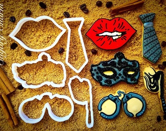 Fifty 50 shades of grey cookie cutters set