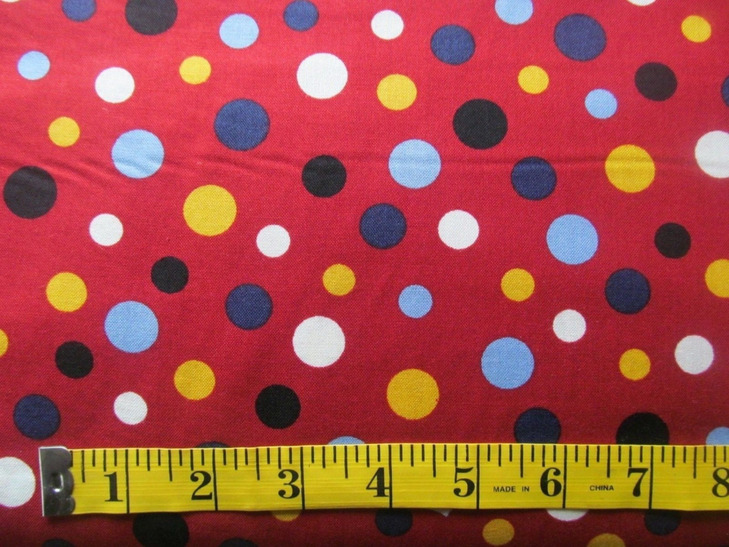 red polka dot fabric by rjr cotton sewing quilting fabric by. Black Bedroom Furniture Sets. Home Design Ideas