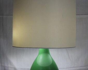 Vintage modern industrial-ish  green metal desk lamp
