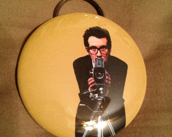 "Large 2-1/4"" Elvis Costello This Year's Model Bottle Opener/Keychain"