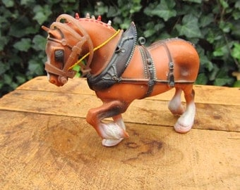 Vintage Plastic Clydesdale Horse - Plastic Clydesdale Horse Model
