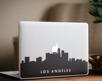 Los Angeles Skyline MacBook Decal Sticker - by FP - DecalGirl