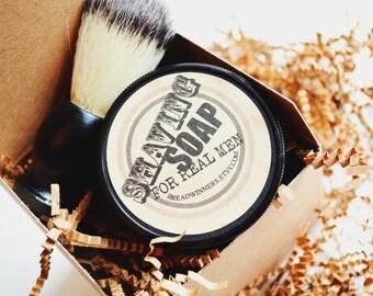 Shaving Kit Gift Set, mens gifts, shaving accessories,  shave kit, gifts for dad, groomsmens gifts, shaving soap, shaving brush, handmade