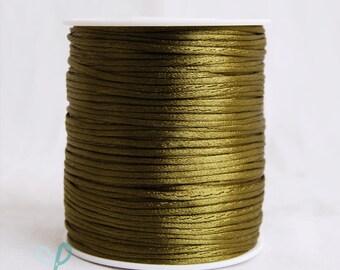 2mm x 100 yards Rattail Satin Nylon Trim Cord Chinese Knot - WILLOW