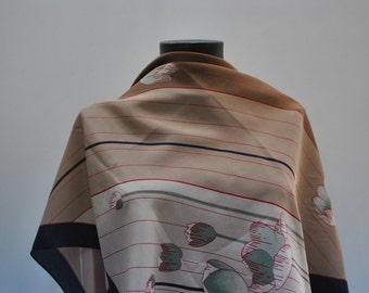 Vintage PRINTED silk scarf...(847)