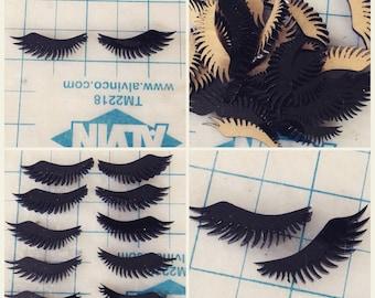 laser cut acrylic eye lashes black (1 set)