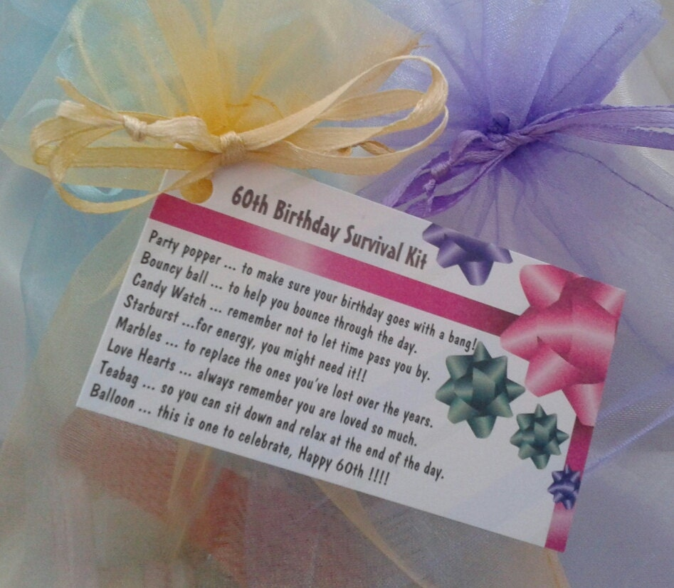 Little BAG Of BITS: 60th Survival Kit Female. By CheerUpCrafts