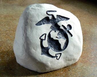 U.S.M.C. - Engraved Stone - United States Marine Corps -