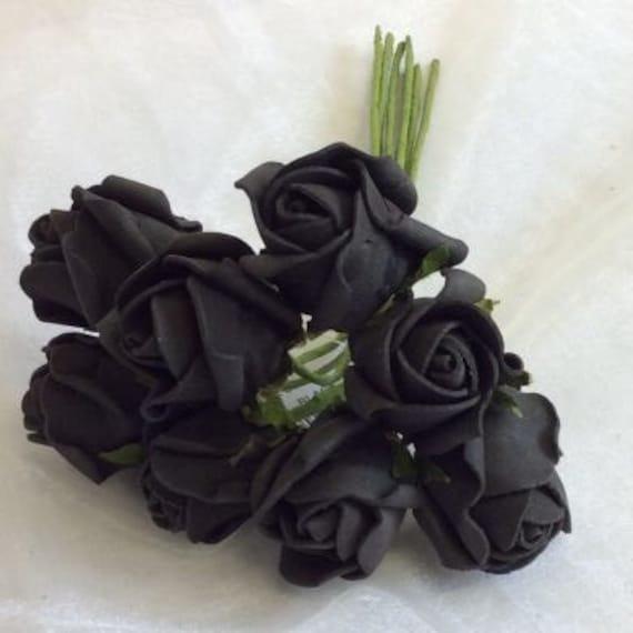 96 st mme k nstliche rosen schwarz farben mischen. Black Bedroom Furniture Sets. Home Design Ideas