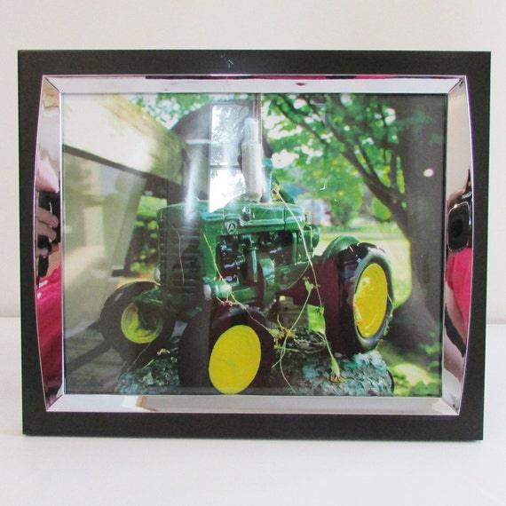 John Deere Wall Decor : Items similar to framed photo of john deere tractor
