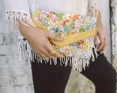 Splatter painted clutch, Hand painted envelope clutch bag, Clutch purse with artistic design