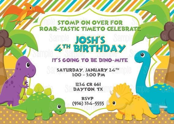 Dinosaur Wedding Invitations: Printable Dinosaur Birthday Party Invitation Plus FREE Blank