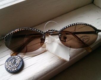 ON SALE Original price 25.99 - Vintage Collection -  Jimmy Crystal Deadstock Sunglasses with Swarosvski crystals Made in USA