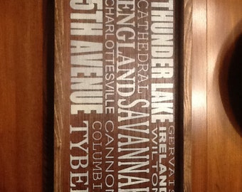Personalized wood tray-pick your own words or graphics