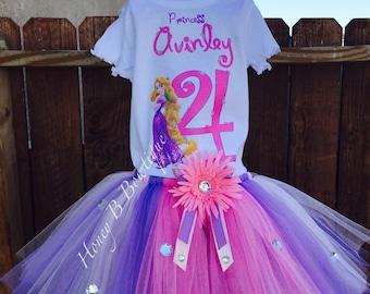 Tangled/Rapunzel Birthday Tutu Set