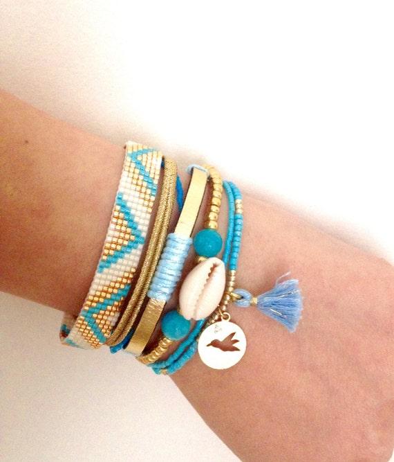 Brazilian Bracelet friendship bead loom beach bracelet boho