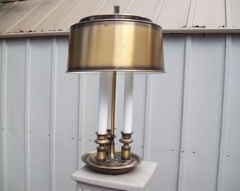 Antique Brass finish tole lamp mid century lamp tole