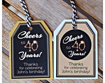 Th Favor Tags Etsy - 40th birthday party favors ideas