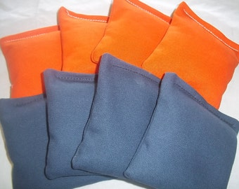 8 ACA Regulation Cornhole Bags - 4 Orange and 4 Royal Blue