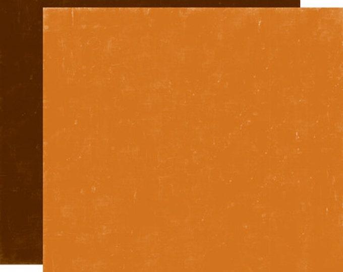 2 Sheets of Echo Park Paper HAPPY CAMPER 12x12 Camping Theme Scrapbook Paper - Orange/Brown