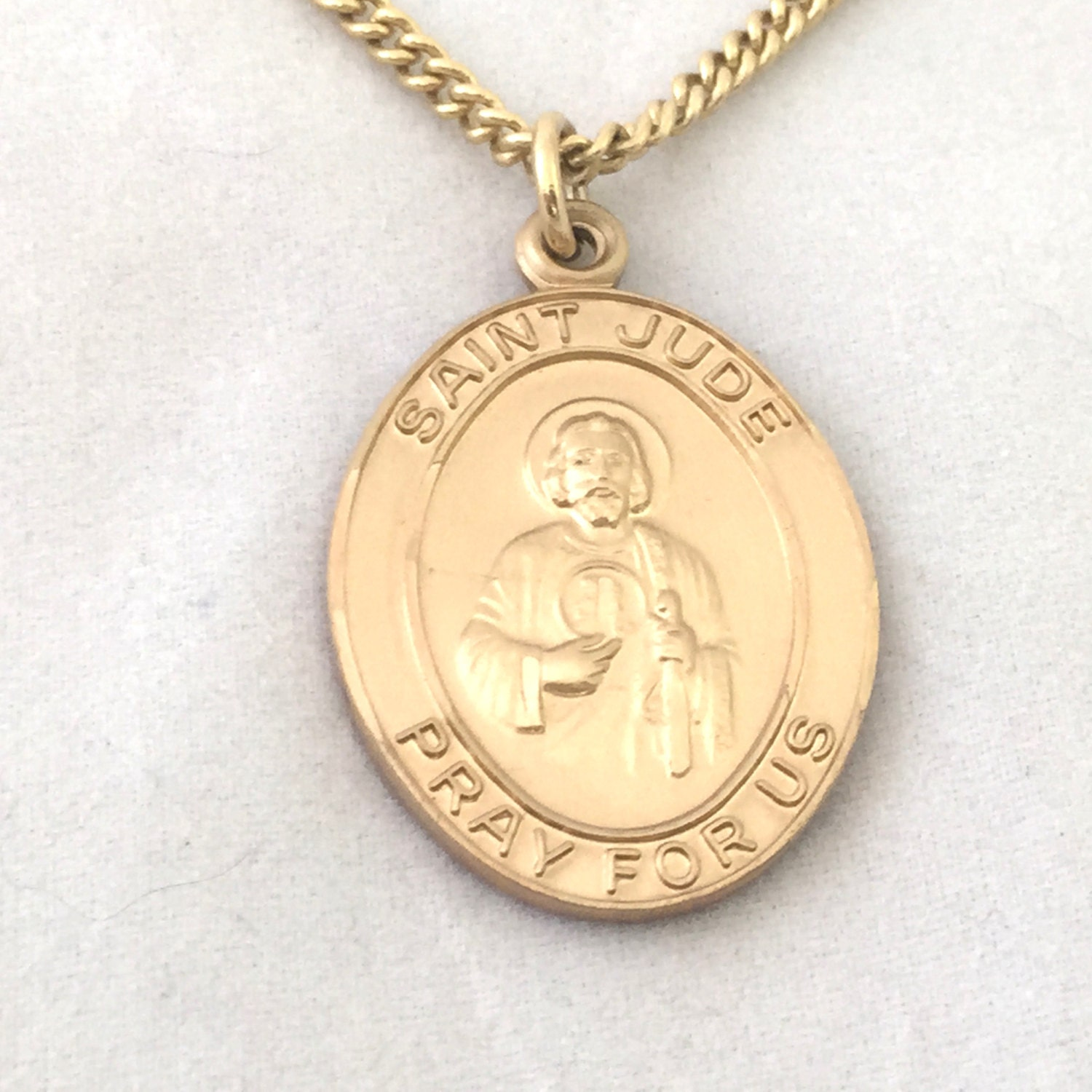 jude medallion necklace st jude pray by