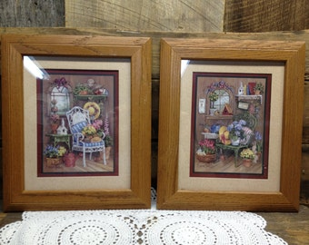 Good Vintage Home Interiors And Gifts Pictures, Set Of Two, Homco, Barbara