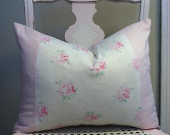 Shabby Chic Pillow Cover Large Antique by CynthiaMooreDesigns