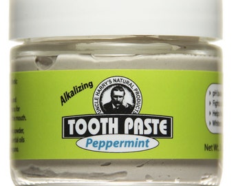 Uncle Harry's Natural Peppermint Toothpaste, 3 Oz Glass Jar