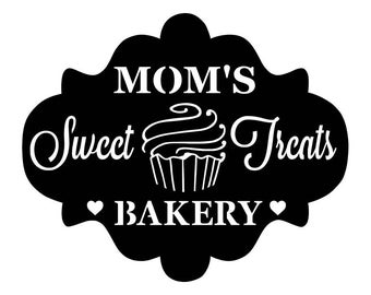 Personalized Bakary Metal Sign - Custom metal Bakery sign