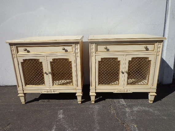 2 kindel regency french provincial nightstands by dejavudecors for French nightstand bedside table