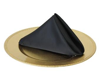 Black Napkin for Weddings, 20 Inch L'amour Wedding Napkins
