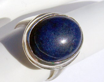 Lapis Ring Sterling Silver