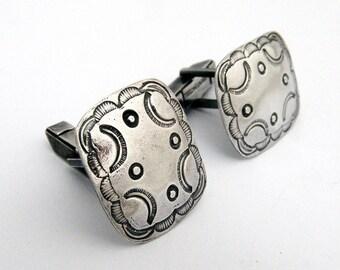 Navajo Cufflinks Sterling Silver