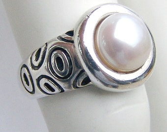 Pearl Ring Sterling Silver