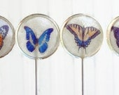 Butterfly Wedding Favor Lollipops Orange, Blue, Yellow, White Set of 40, Edible Image Lollipops, Woodland Wedding Favors, Summer Party