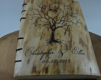 Wedding Book,Personalized Wedding Photo Album, Wedding Book Wood