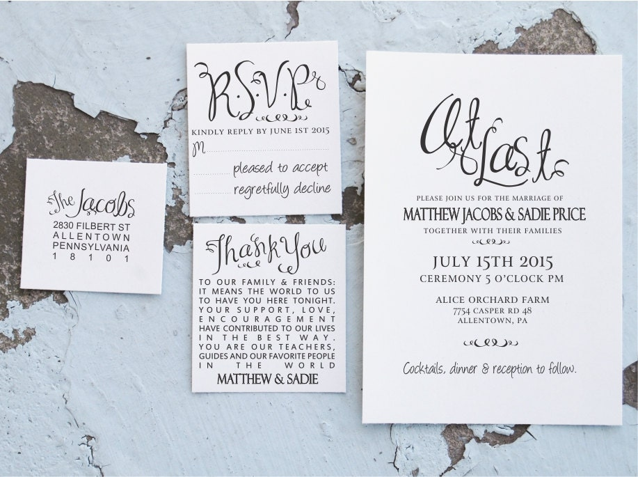 Stamps For Wedding Invitations: Wedding Invitation Stamp Suite At Last Wedding Invites