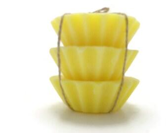 3 Scented Soy Tart Melts - Honeysuckle Jasmine, Wedding, Housewarming, Birthday, Shower Favor, Gift Under 10